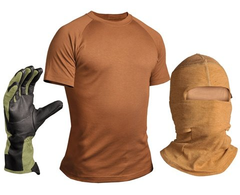 Custom Photography For FR Fabrics Manufacturer. FR hood, FR gloves and FR undergarment.