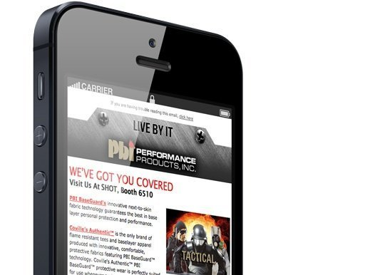 Mobile Optimized Email Marketing - PBI Performance Products