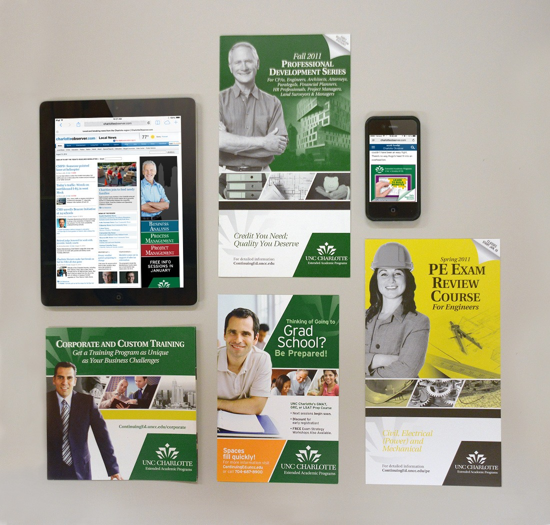 UNC Charlotte major marketing collateral