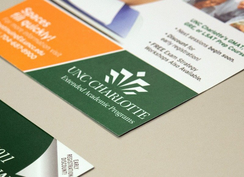 UNC Charlotte Extended Academic Programs print marketing example
