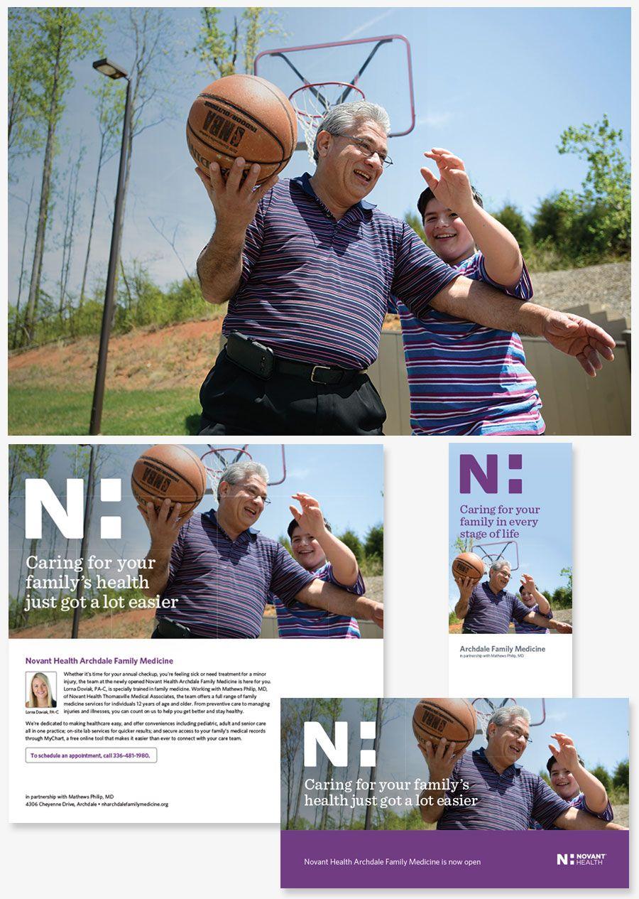 Novant Health print marketing creative work | ABZ Creative Marketing