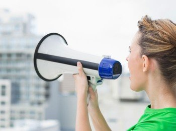 Image of megaphone to illustrate effective social sharing