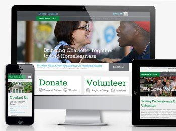 Image of a website using responsive website design to help with SEO