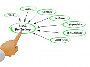 Link building and content marketing image