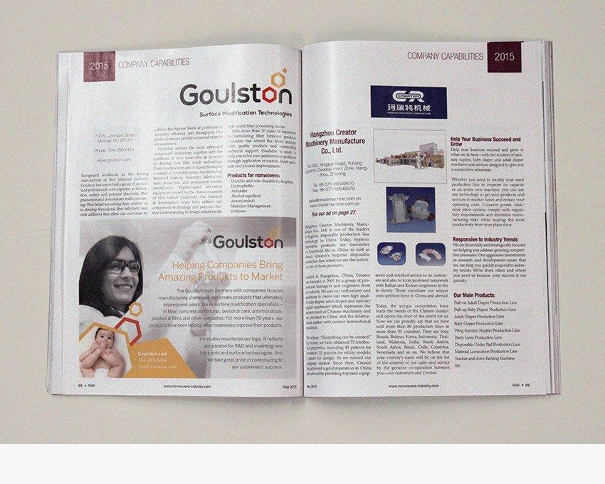 Goulston Technologies print ad