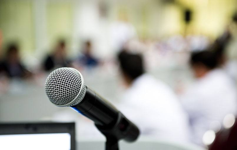 Marketing With Speaking Engagements: blog header image