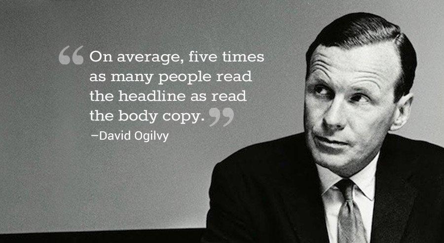 Headline writing tips by David Ogilvy