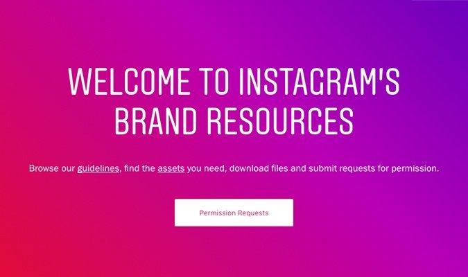 Instagram website gradient